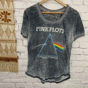 Pink Floyd dark side of the moon burnout tee